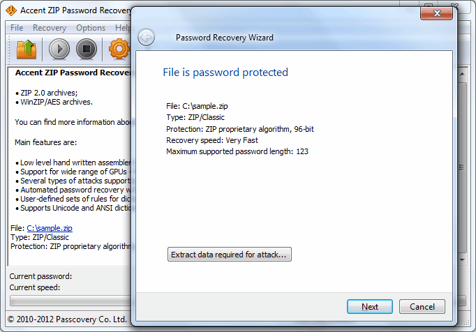 Accent ZIP Password Recovery 4 95 on FileCart
