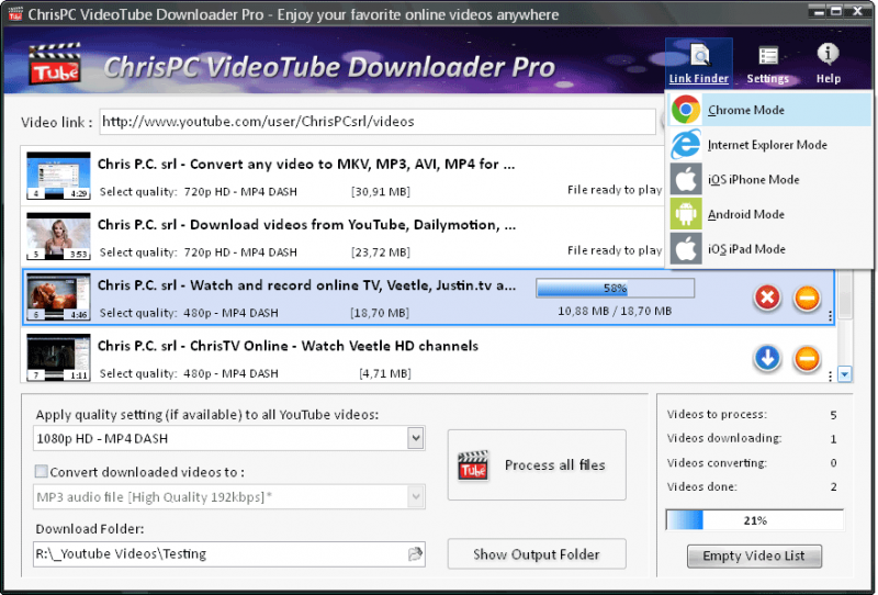 ChrisPC VideoTube Downloader Pro 11 07 26 on FileCart