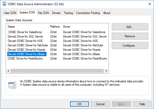 Odbc driver for xbase 1. 1 on filecart.